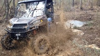 9. Frosty Hammers Down on His Polaris Ranger 900xp