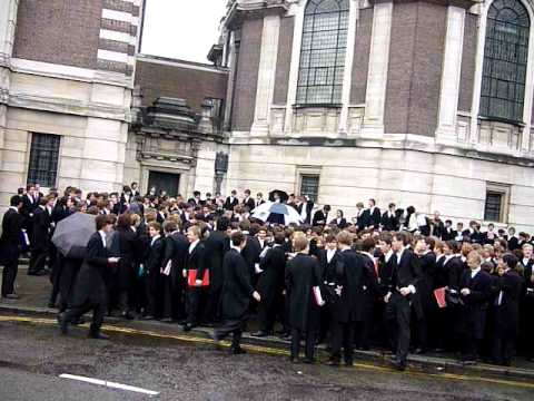 eton - A flashmob turned leggit at Eton College. Quite a rare event for a pupil during his Eton career, but not unheard of. Date: Somewhere around 2010.