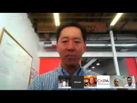 Google+ Hangout with the CX Experts:  CX Strategy