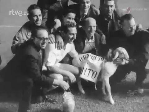 Real Madrid vs. River (1965). Partido homenaje a Paco Gento.