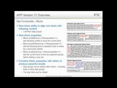 Arbortext V11 M010 Overview - APP World 2011 Webinars