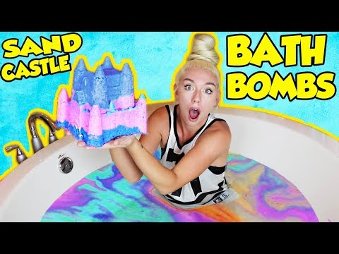 DIY GIANT CASTLE BATH BOMBS! How To Make The Most SATISFYING Bath Bomb Ever!