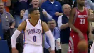 VICIOUS Westbrook Dunk Seals OKC Victory vs the Rockets | 11/16/16