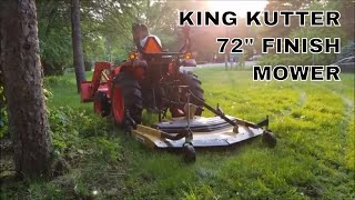 5. King Kutter 72 inch rear discharge mower first use