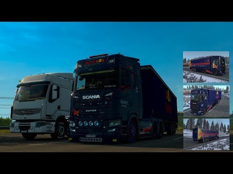 Scania S - Red Bull Racing + Trailer by l1zzy