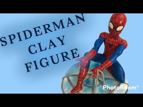Человек паук из мастики как сделать