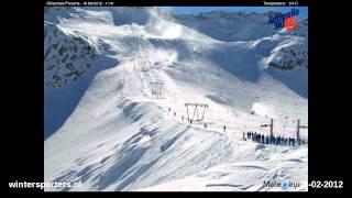 Adamello Ski Presena webcam time lapse 2011-2012