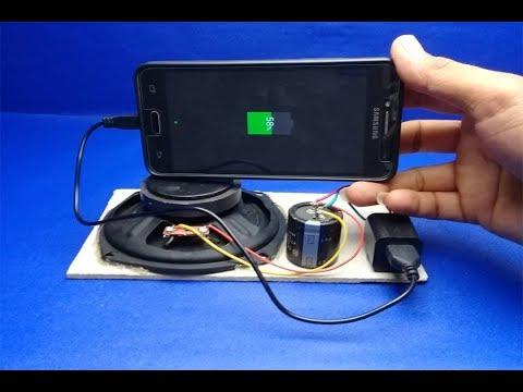 100% Mobile Charging using speaker magnet | Free Energy  Generator (видео)