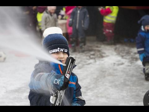 Kornberget barnehage lager snøen selv