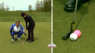 Video Golf Tip of the Week: Putting Drill to Avoid Cutting Putts to the Right MP3, 3GP, MP4, WEBM, AVI, FLV Mei 2018