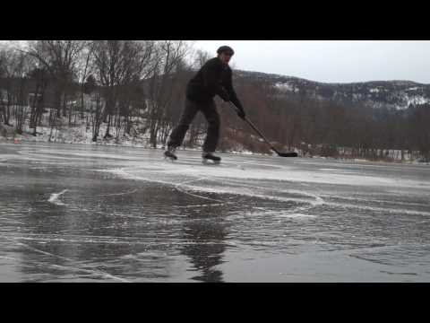 Pond Skating and Ice Hockey Drills on Lower Mill Pond