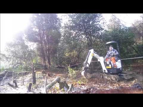 Video D.M.S MICRO DIGGER HIRE.Stump Removal using our Bobcat E10 download in MP3, 3GP, MP4, WEBM, AVI, FLV January 2017