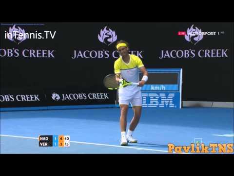 australian open 2016: rafael nadal vs fernando verdasco - highlights