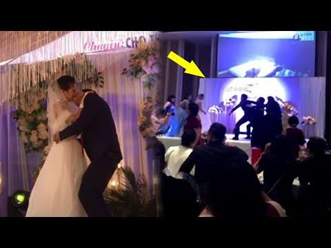 Bố chú rể h,ô,n cô dâu trên SK chú rể phá tan hoang đám cưới