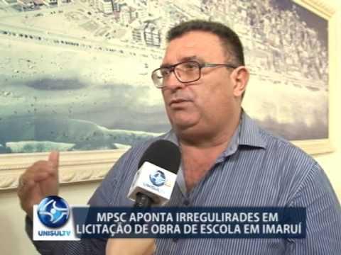 Ministério Público aponta irregularidades em licitação de obra em escola de Imaruí