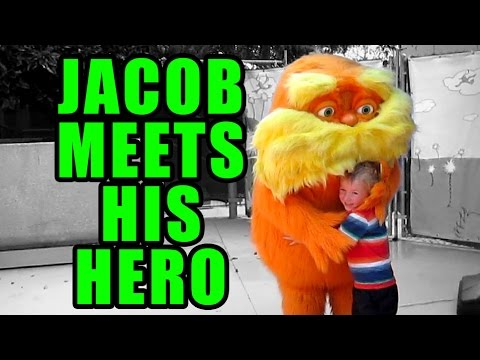meets - Jacob meets his hero, the Lorax, in Seuss Landing at Universal's Islands of Adventure. We also drink butter beer and ride the Hippogriff in Harry Potter land and get soaked on Jurassic Park...