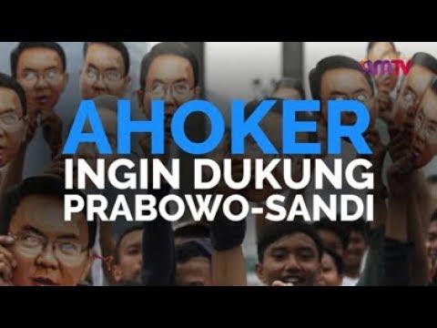Ahoker Ingin Dukung Prabowo-Sandi