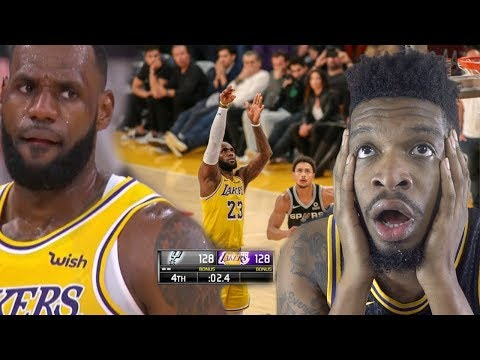 LEBRON REALLY CHOKED... LAKERS vs SPURS HIGHLIGHTS REACTION