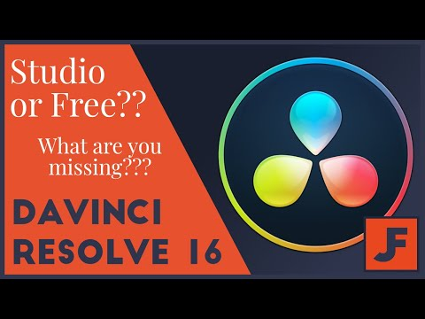 Davinci Resolve 15 and 16 -  Free vs Studio - What do you need?