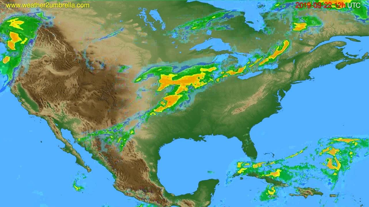 Radar forecast USA & Canada // modelrun: 00h UTC 2019-09-22