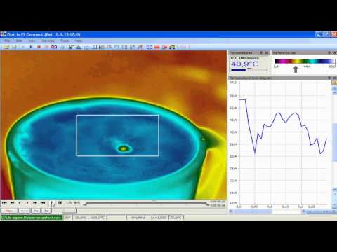 thermoIMAGER TIM 160 Coffee Cup in 450ms Example