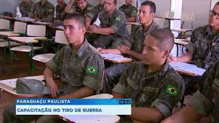 Soldados do Tiro de Guerra participam de projeto de capacitação em Paraguaçu Paulista