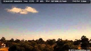 18 April 2014 - West Facing WeatherCam Timelapse - KanivaWeather.com