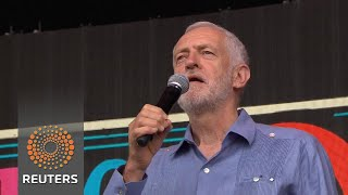 Labour leader Jeremy Corbyn is a hit at Glastonbury