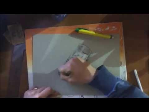 come disegnare un bicchiere di vetro!