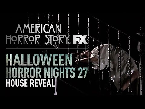 American Horror Story House Reveal | Halloween Horror Nights 27 (видео)