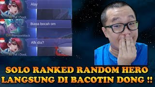 Video UJI NYALI SOLO RANKED RANDOM HERO !! LANGSUNG DI BACOTIN !! MP3, 3GP, MP4, WEBM, AVI, FLV September 2018