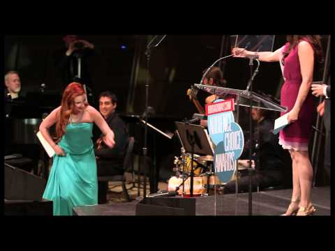 audience - Stephanie J. Block and Aaron Tveit present Sierra Boggess the 2013 Broadway.com Audience Choice Award for Favorite Replacement for