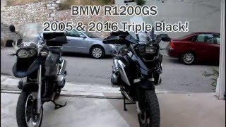 7. BMW R 1200GS '05 & '16 triple black!