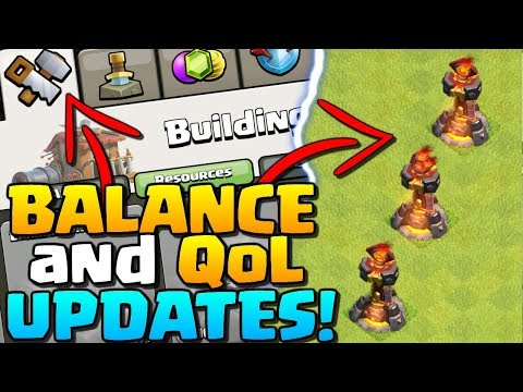 Clash Of Clans UPDATE | 3 Inferno Towers!! Balance And Quality Of Life Changes | CoC 2018