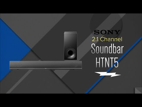 Sony Black 2.1 Channel 4K High-Resolution Wireless Sound Bar System HTNT5 - Overview