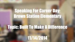 RK3 Speaks At Brown Station Middle School