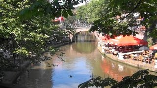Utrecht is a pleasant pretty tourist town where many ride bikes, where you can take a boat ride on the Oudegracht and the Nieuwegracht.