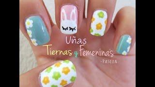 Uñas Tiernas y Femeninas -Pascua - YouTube