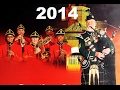 Cape Town Military Tattoo 2014 - massed military and pipe bands.
