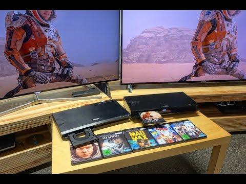 UHD HDR Blu ray Panasonic UB900, Samsung K8500 mit KS9090, DXW904 und XD93 im Test
