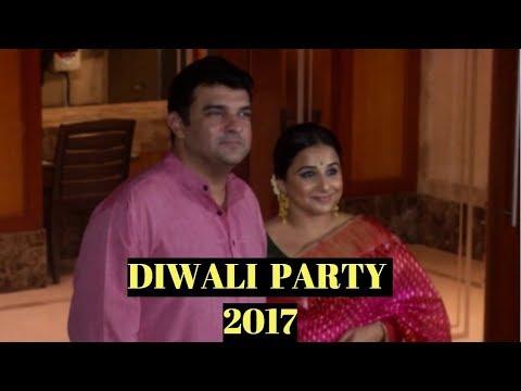 Vidya Balan & Siddharth Roy Kapur At Sanjay Dutt's  Diwali Party 2017