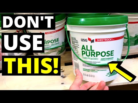 """DON'T USE DRYWALL BUCKET MUD!! Use this instead...(Quick Setting Joint Compound / """"Hot Mud"""")"""