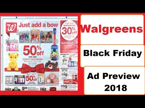 Walgreens Black Friday Ad Preview- 2018