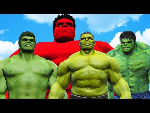 RED HULK VS WORLD WAR HULK (Hulk, The Incredible Hulk, Hulk Endgame)