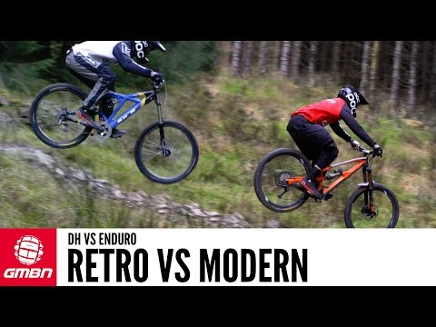 Can A Modern Enduro Bike Beat A Retro Downhill Bike? (видео)