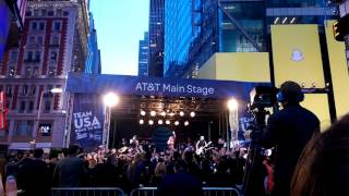 The Band Perry performs Live Forever at Times Square