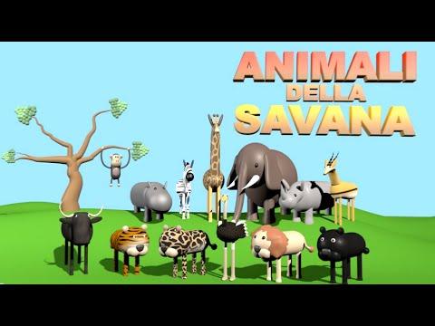 animali della savana - alexkidstv