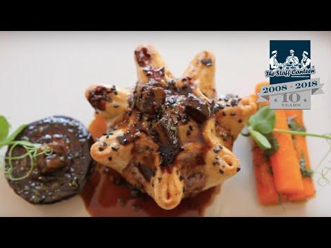 Irish Ox cheek & pickled walnut pie, onion, glacé carrots, beef fat mash recipe by Adam Bennett