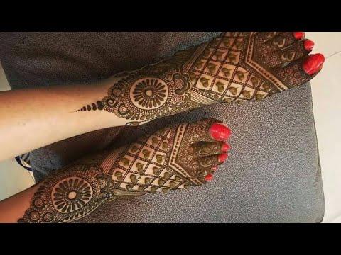 beautiful foot mehndi design tutorial