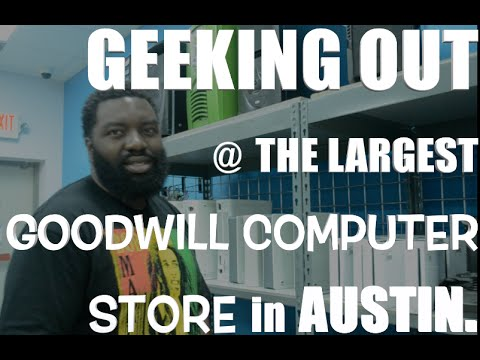Geeking Out at The Goodwill Computer Store In Austin  | Daily Moves Vlog
